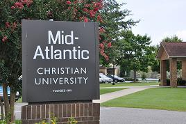 Mid-Atlantic Christian University Sign